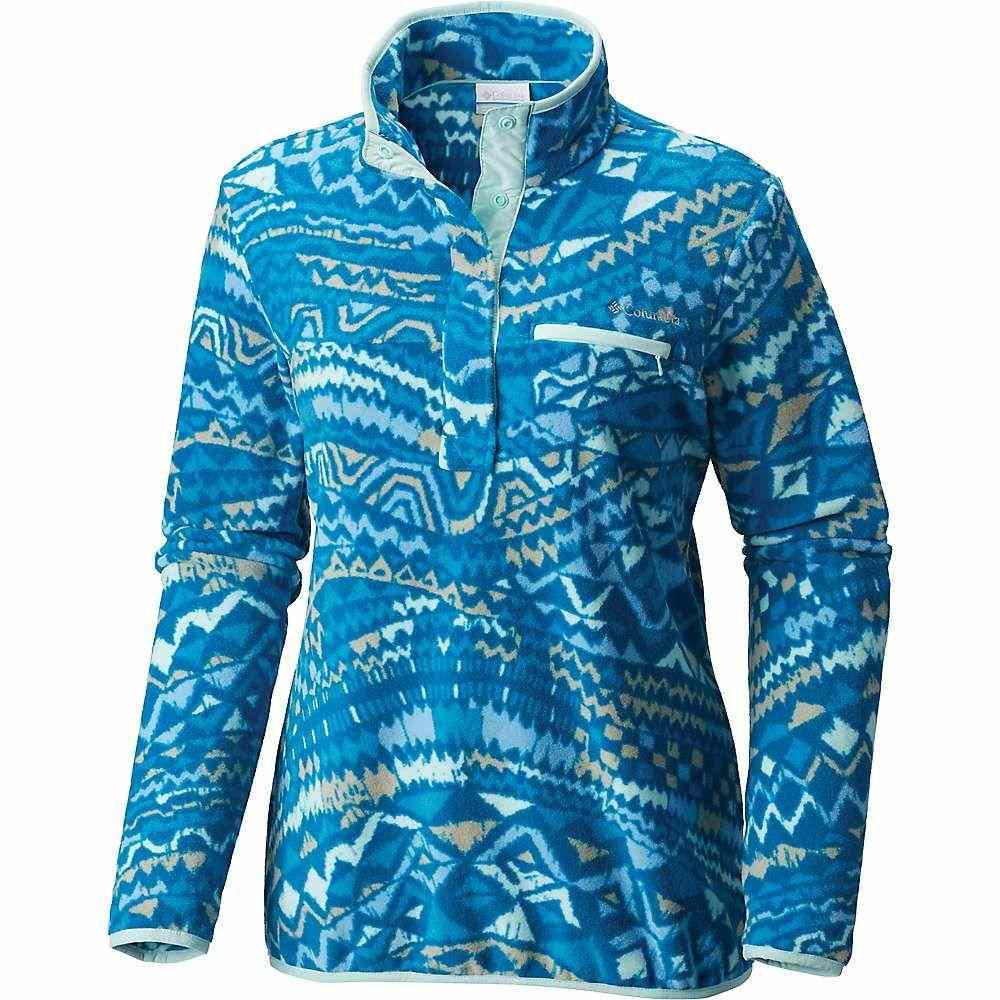 コロンビア Columbia レディース フィットネス・トレーニング トップス【mountain side printed pullover】Dark Cyan Global Wave Print
