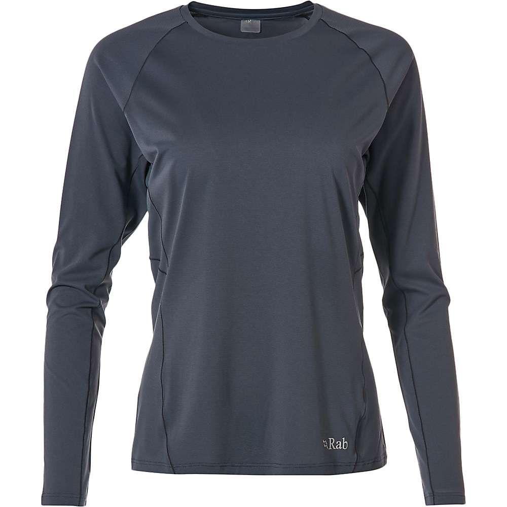 ラブ Rab レディース フィットネス・トレーニング Tシャツ トップス【force ls tee】Steel
