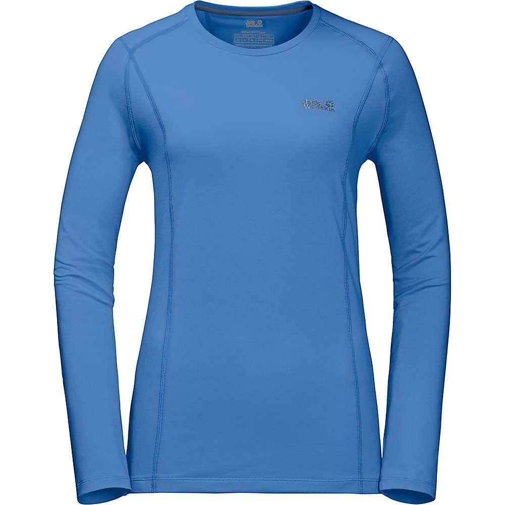 ジャックウルフスキン Jack Wolfskin レディース フィットネス・トレーニング トップス【hollow range ls shirt】Zircon Blue