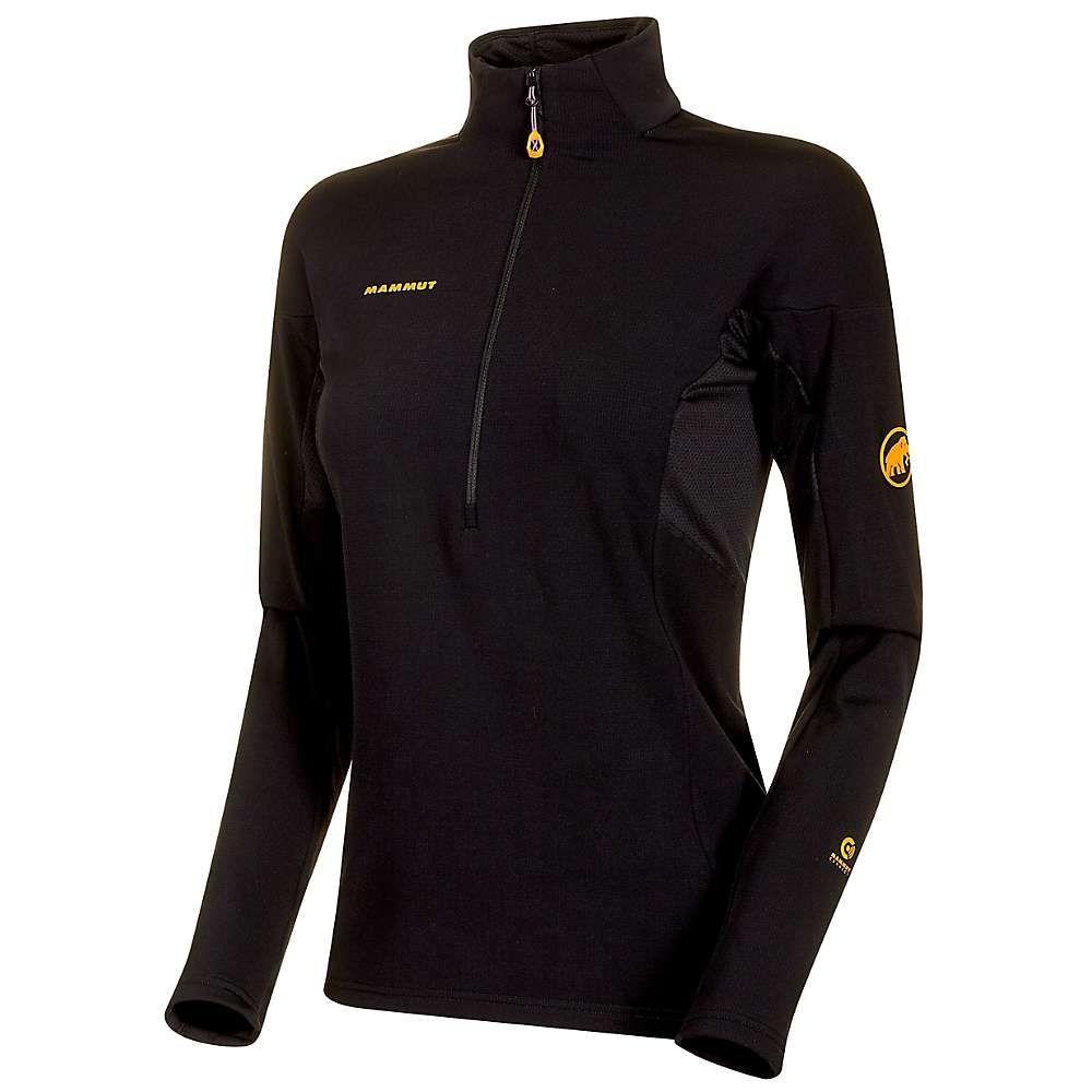 マムート Mammut レディース フィットネス・トレーニング Tシャツ トップス【moench advanced half zip ls t-shirt】Black