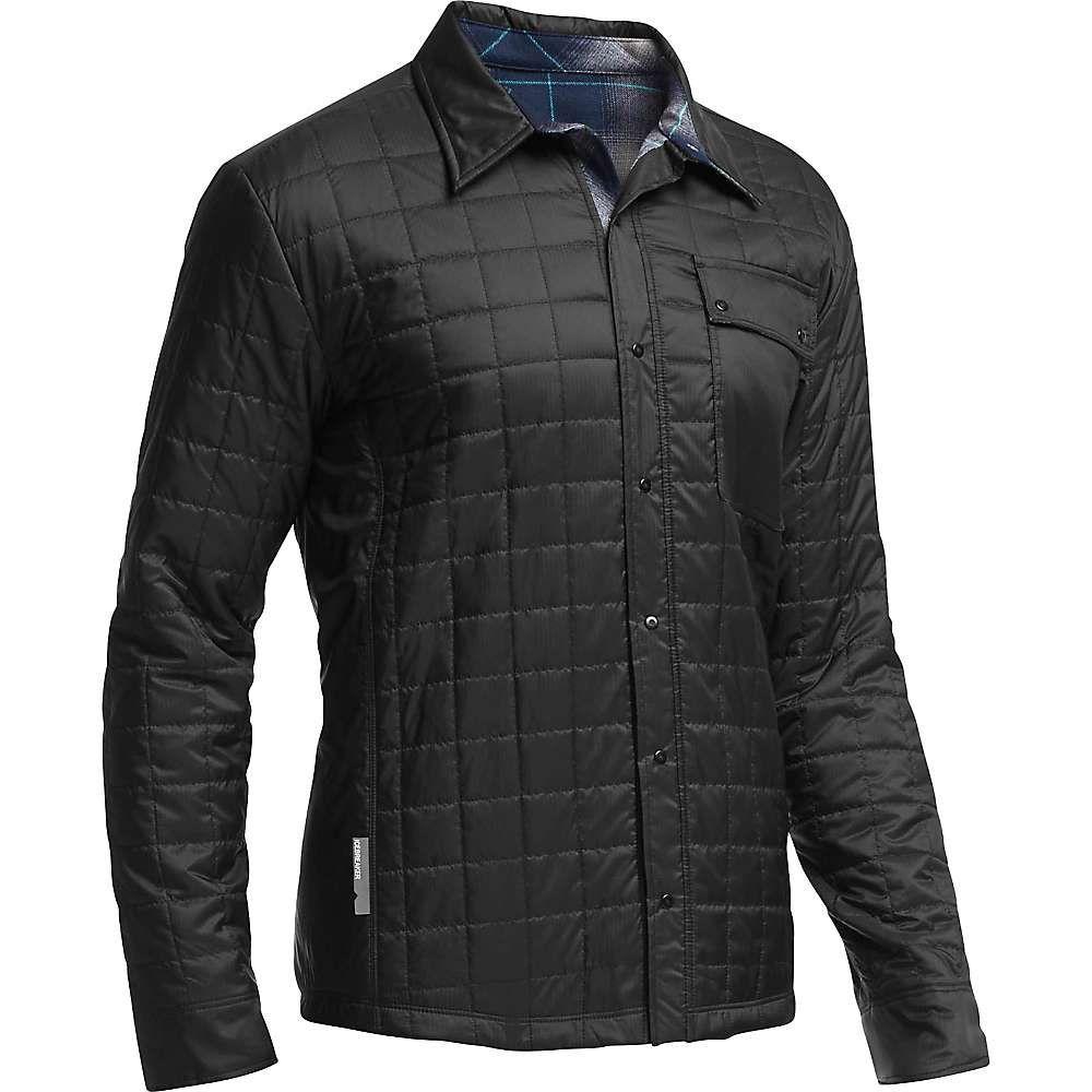 アイスブレーカー Icebreaker メンズ シャツ トップス【helix ls shirt】Black/Admiral/Aquamarine