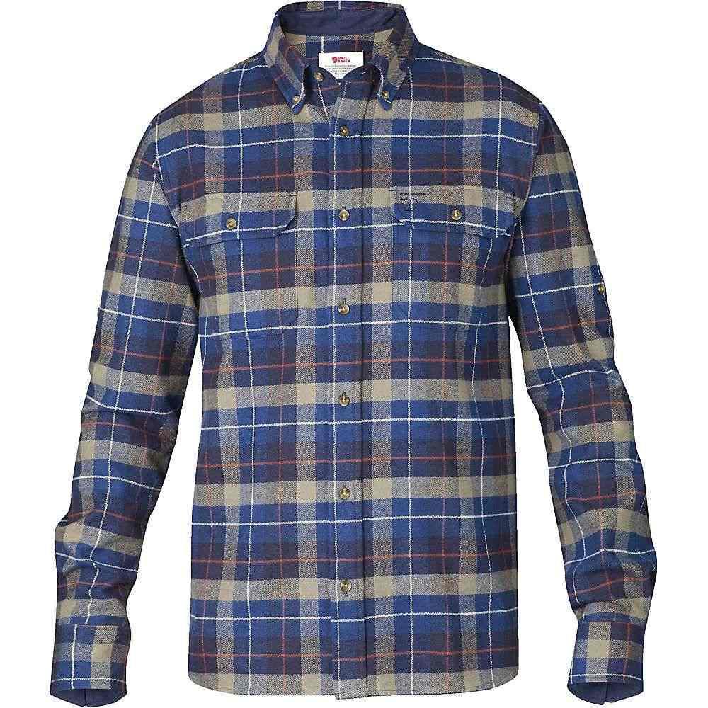 フェールラーベン Fjallraven メンズ シャツ フランネルシャツ トップス【singi heavy flannel shirt】Navy