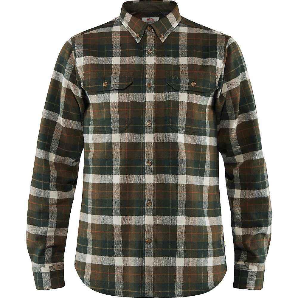 フェールラーベン Fjallraven メンズ シャツ フランネルシャツ トップス【singi heavy flannel shirt】Deep Forest