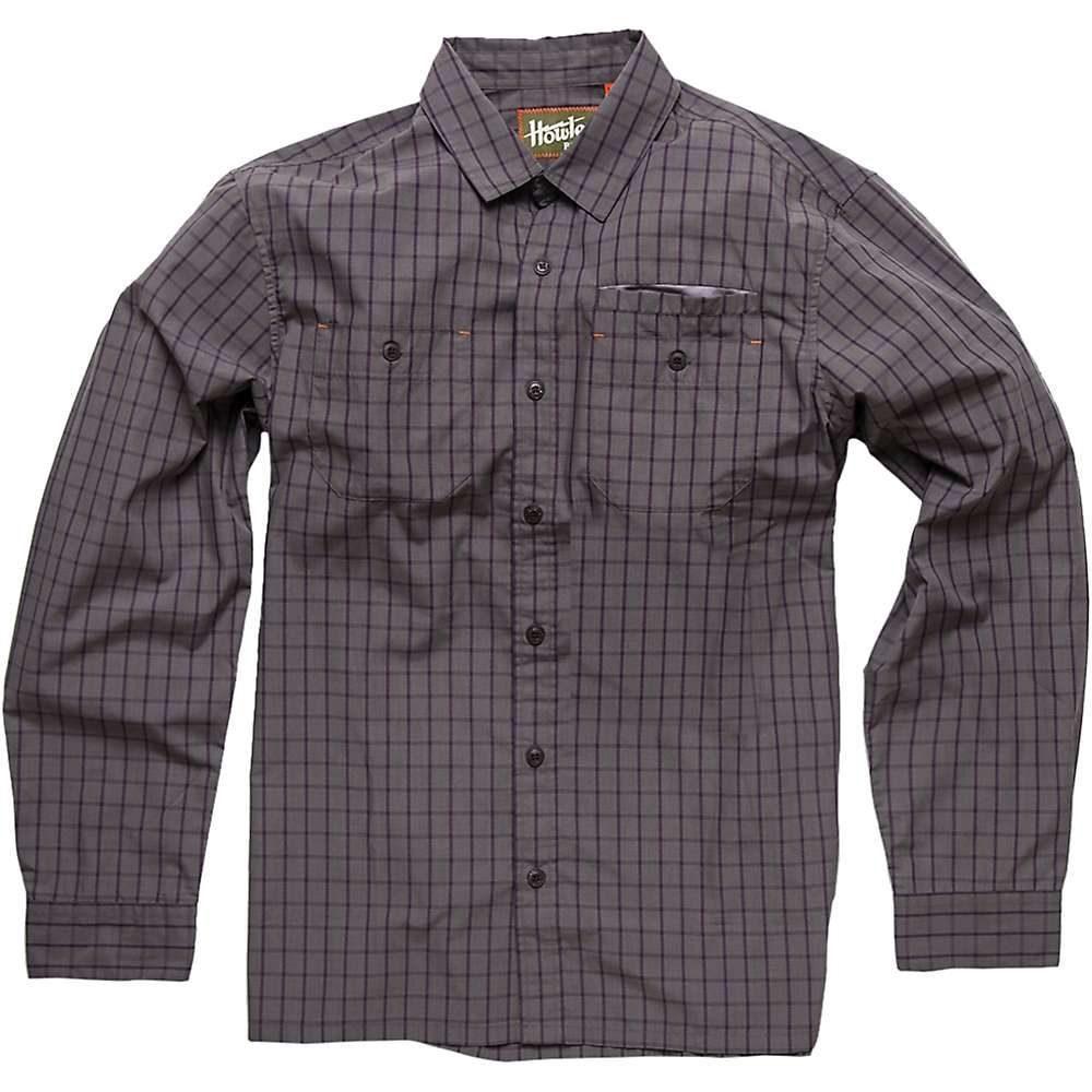 ホウラーブラザーズ Howler Brothers メンズ シャツ トップス【aransas ls shirt】Shinebox Plaid Grey/Purple