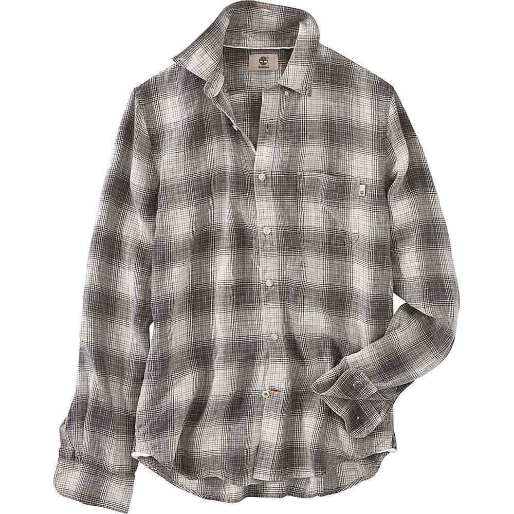 ティンバーランド Timberland Apparel メンズ シャツ トップス【timberland mill river linen ombre plaid ls shirt】Ebony