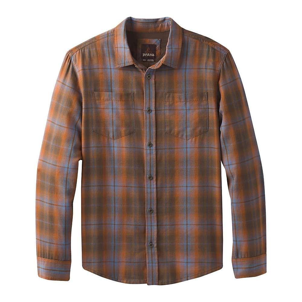 プラーナ Prana メンズ シャツ トップス【holton ls shirt】Scorched Brown Plaid