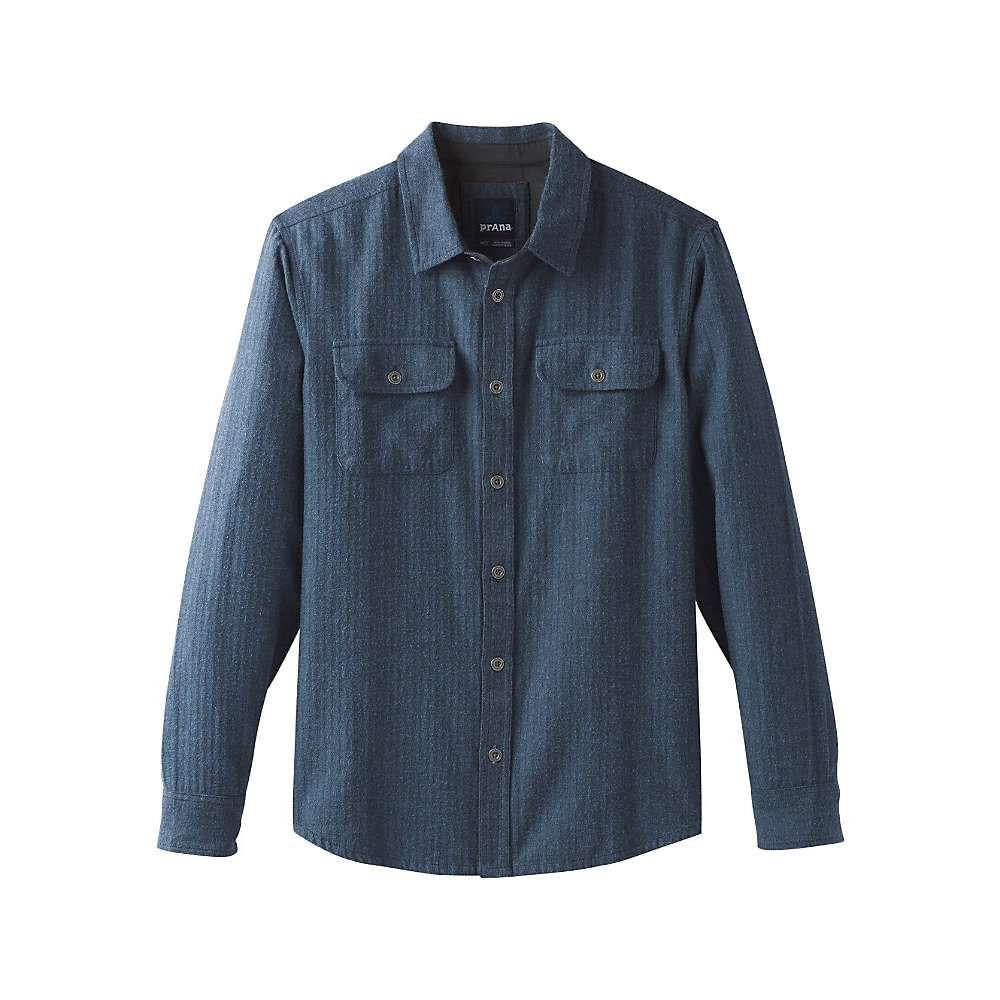 プラーナ Prana メンズ シャツ トップス【lybeck ls shirt】Equinox Blue Herringbone