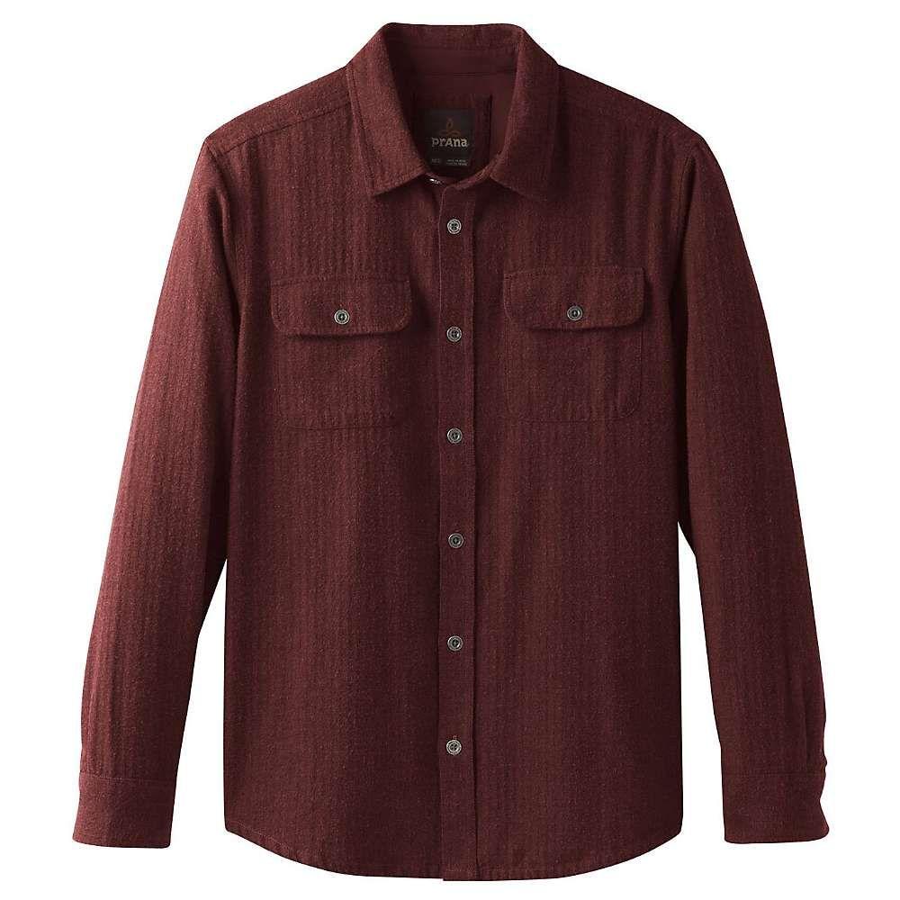プラーナ Prana メンズ シャツ トップス【lybeck ls shirt】Mulled Wine Herringbone