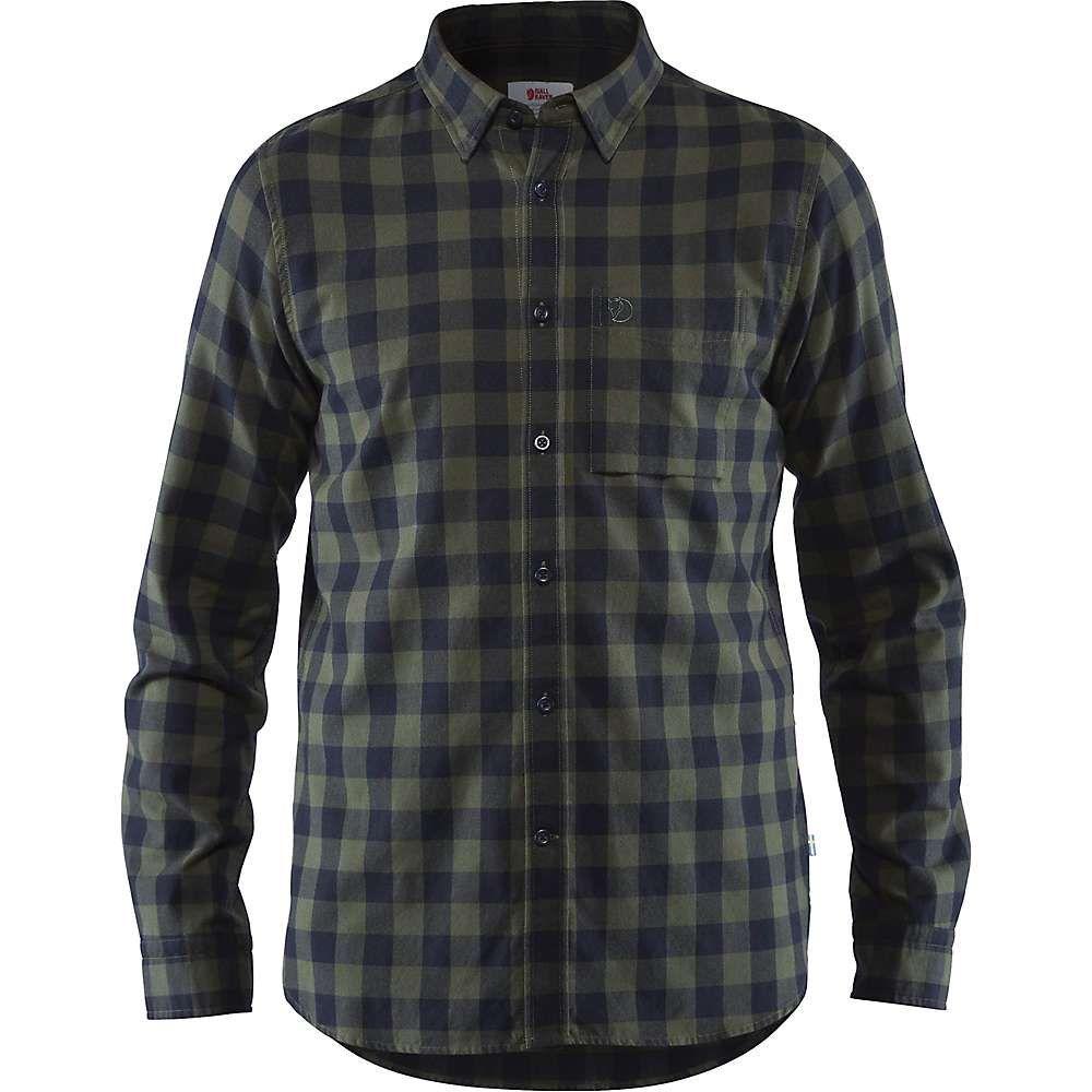 フェールラーベン Fjallraven メンズ シャツ トップス【ovik check ls shirt】Deep Forest