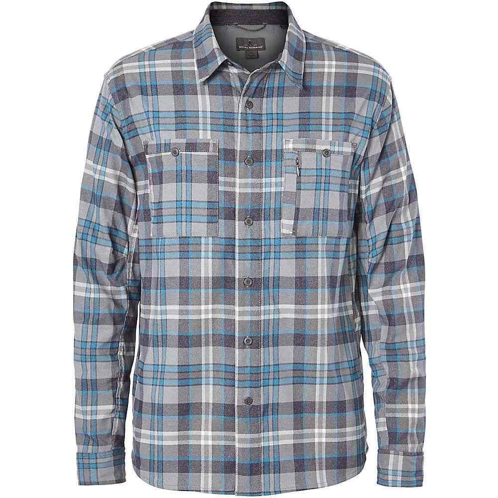 ロイヤルロビンズ Royal Robbins メンズ シャツ フランネルシャツ トップス【treeline stretch performance plaid flannel ls shirt】Lt Glacier Blue