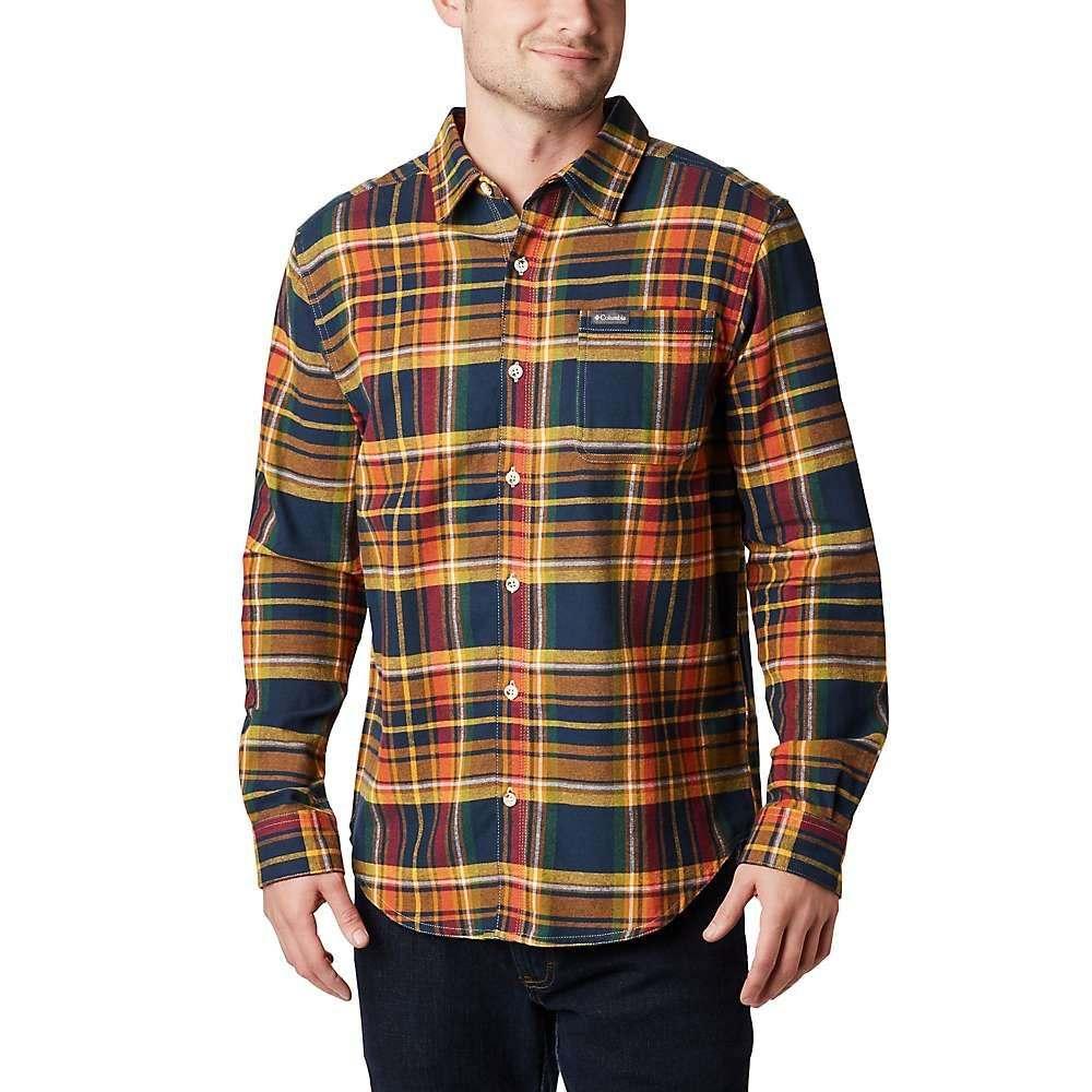 コロンビア Columbia メンズ シャツ トップス【boulder ridge long sleeve flannel】Collegiate Navy Multi Tartan