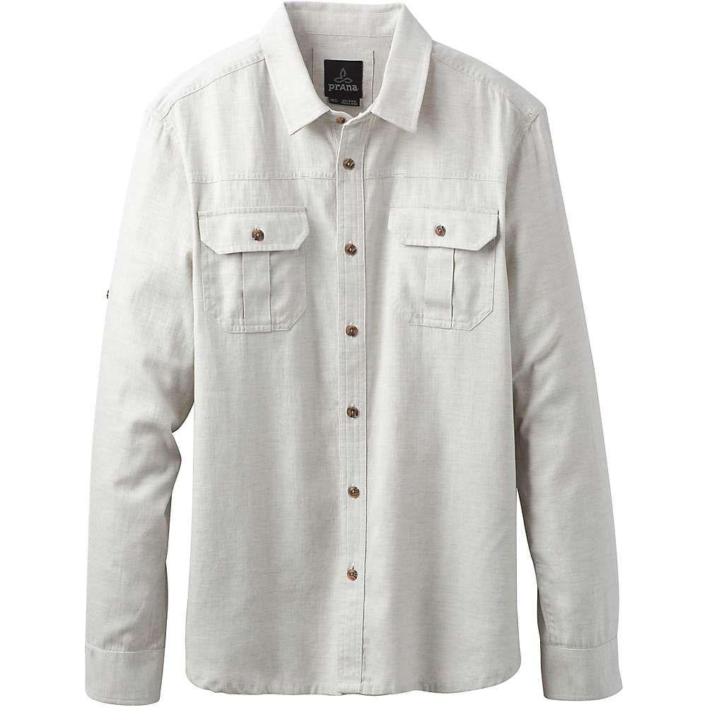 プラーナ Prana メンズ シャツ トップス【cardston ls shirt】Grey Heather
