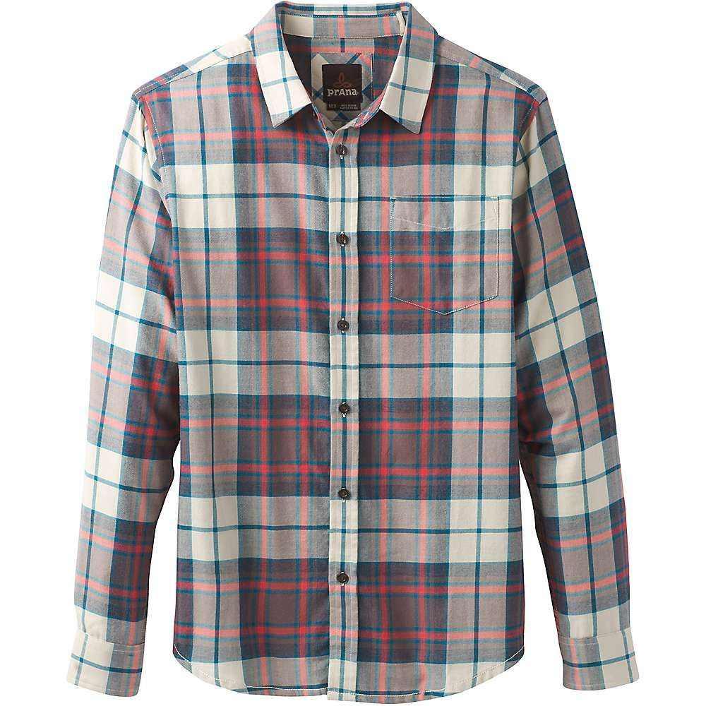 プラーナ Prana メンズ シャツ フランネルシャツ トップス【shayne ls flannel shirt】Crimson