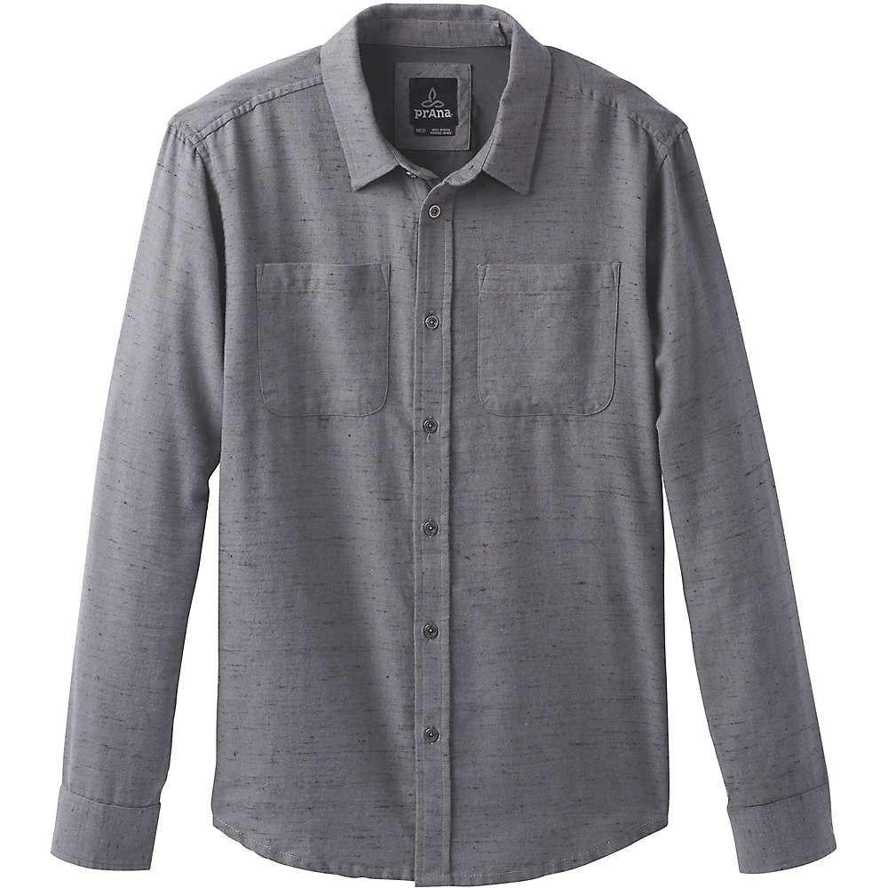 プラーナ Prana メンズ シャツ フランネルシャツ トップス【trey ls flannel shirt】Gravel