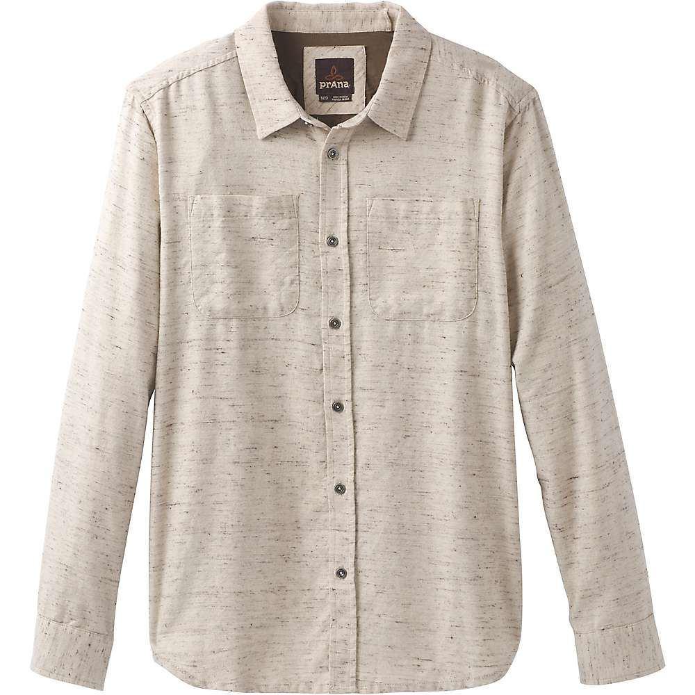 プラーナ Prana メンズ シャツ フランネルシャツ トップス【trey ls flannel shirt】Stone