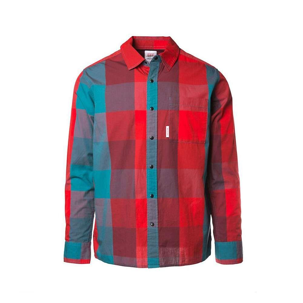 トポ デザイン Topo Designs メンズ シャツ トップス【park shirt】Red/Teal