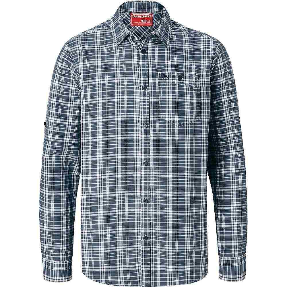 クラッグホッパーズ Craghoppers メンズ シャツ トップス【nosilife barmera ls check shirt】Ombre Blue Check