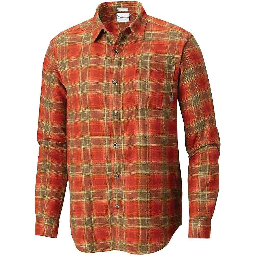 コロンビア Columbia メンズ シャツ フランネルシャツ トップス【boulder ridge ls flannel shirt】Rusty Pop Plaid