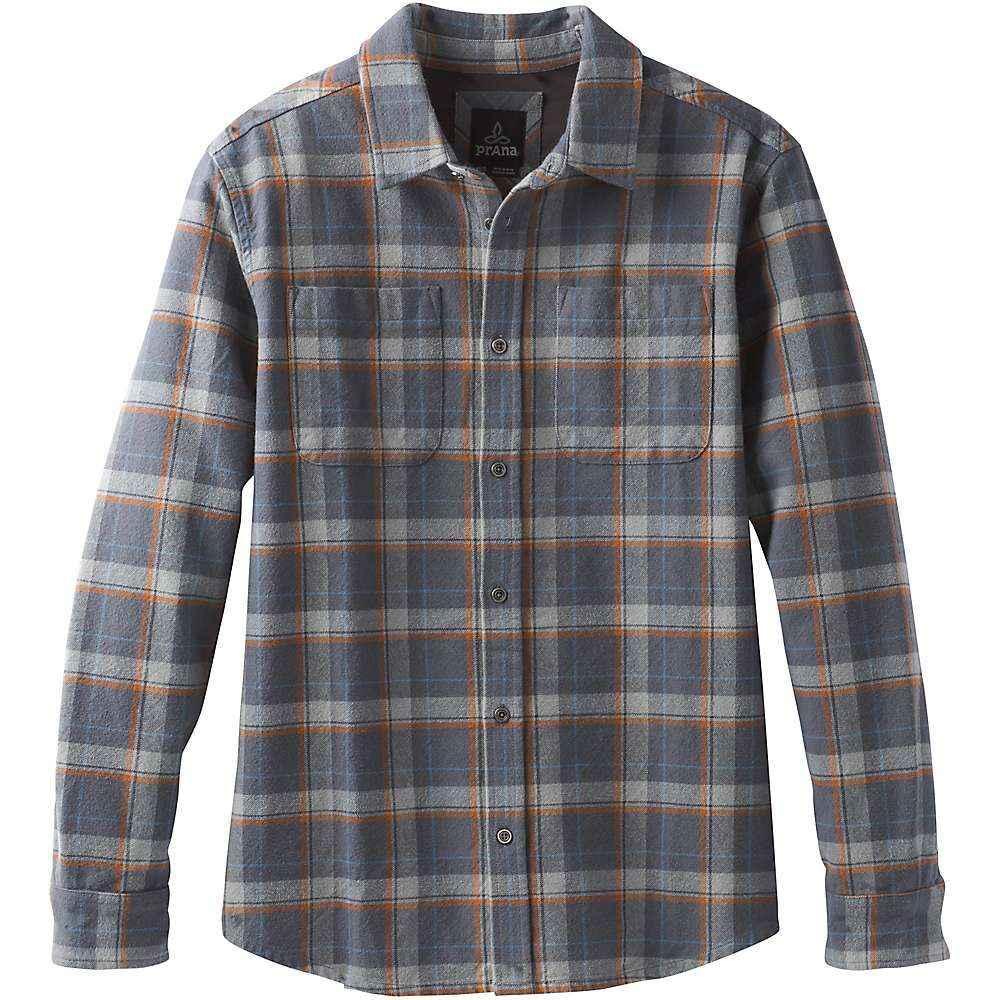 プラーナ Prana メンズ シャツ フランネルシャツ トップス【brayden ls flannel shirt】Coal