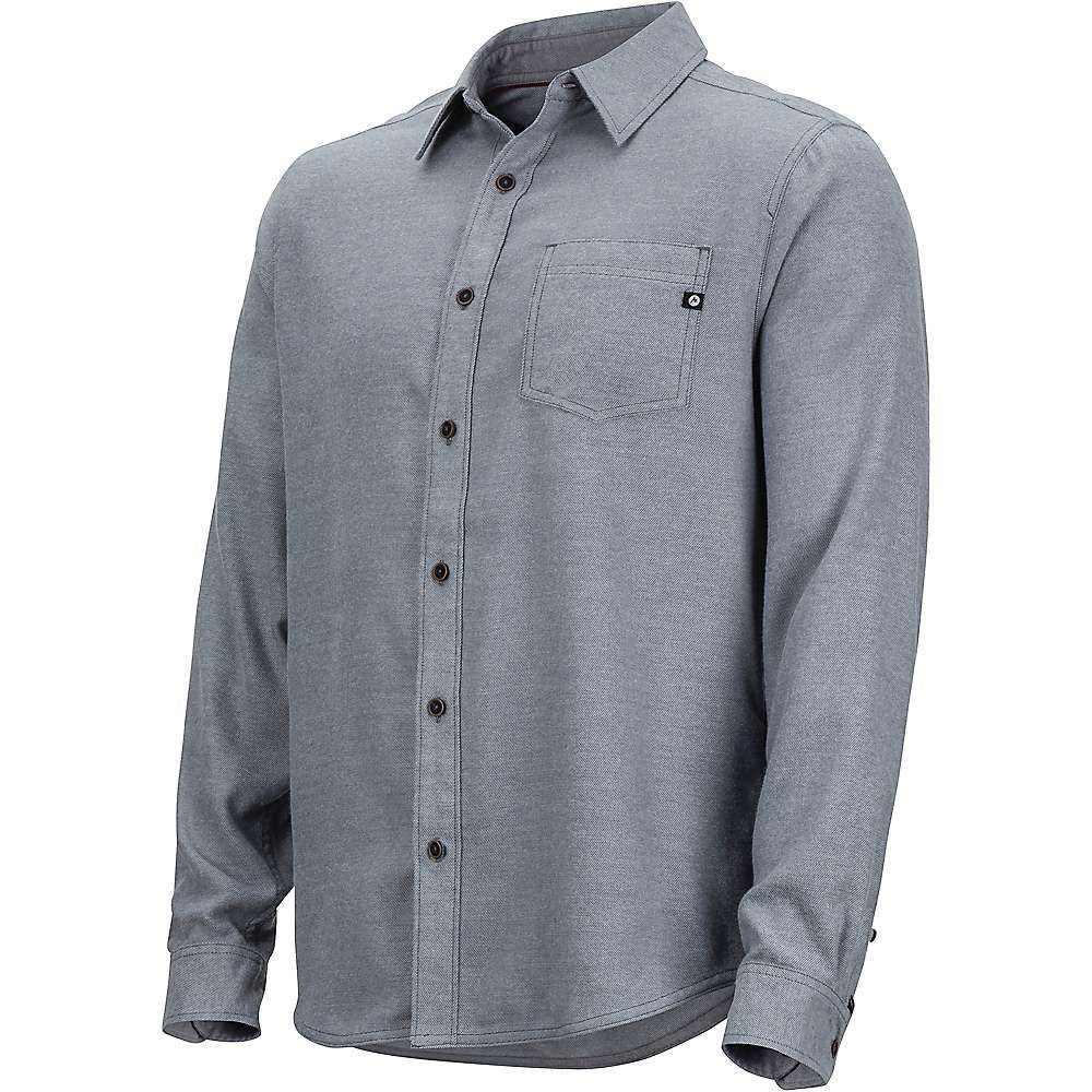 マーモット Marmot メンズ シャツ フランネルシャツ トップス【hobson midweight flannel ls shirt】Steel Onyx Heather