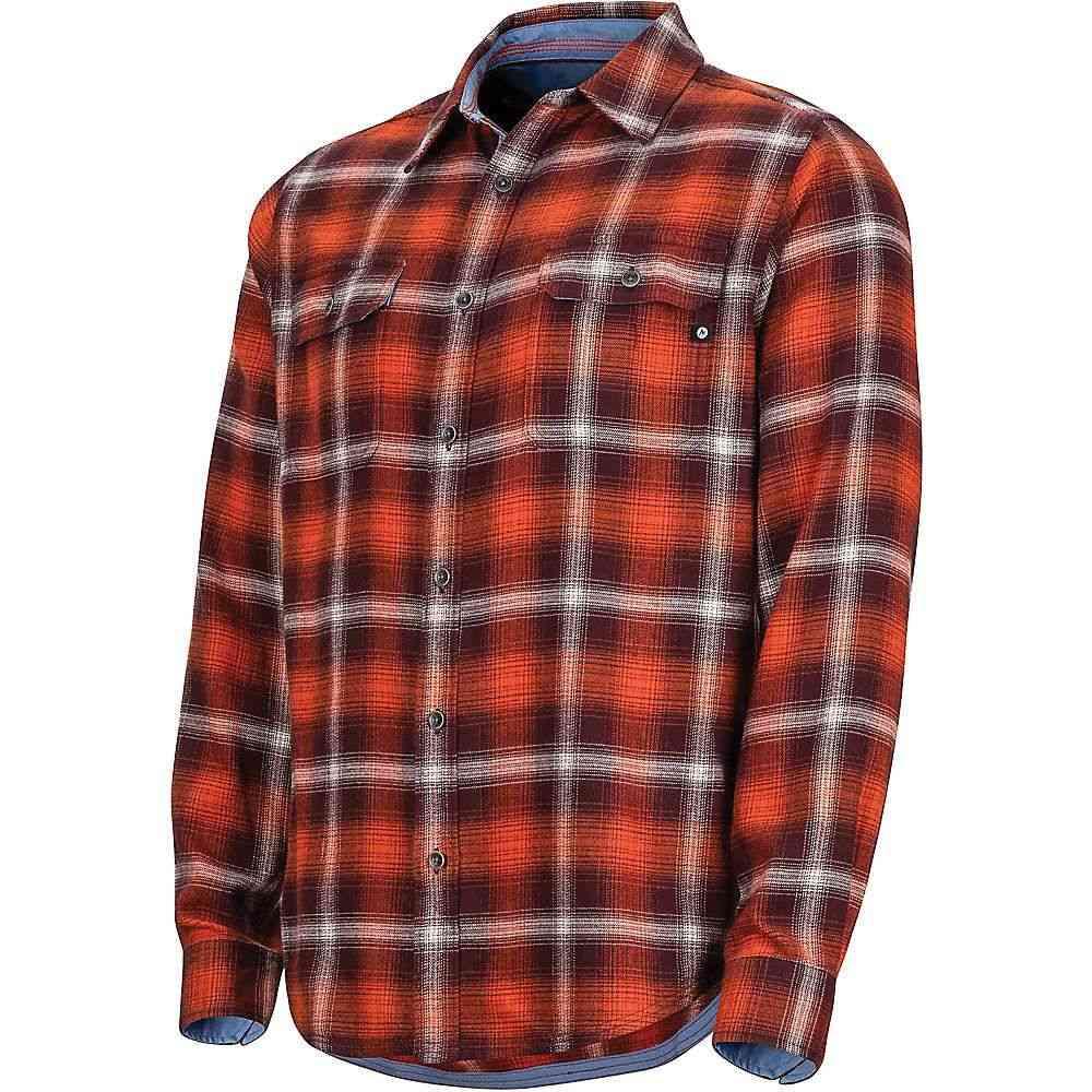 マーモット Marmot メンズ シャツ フランネルシャツ トップス【jasper midweight flannel ls shirt】Burgundy