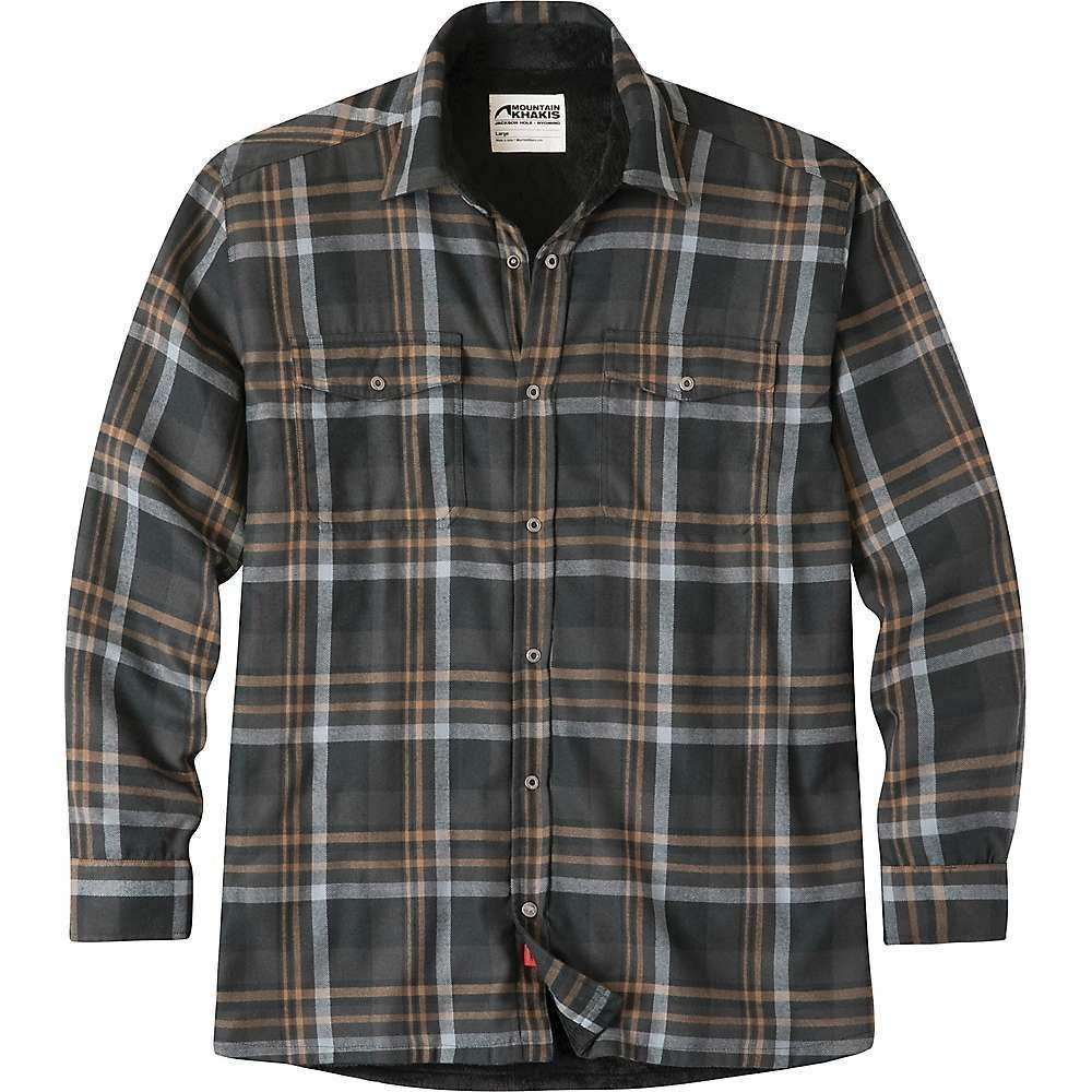 マウンテンカーキス Mountain Khakis メンズ フリース トップス【christopher fleece lined shirt】Black Plaid