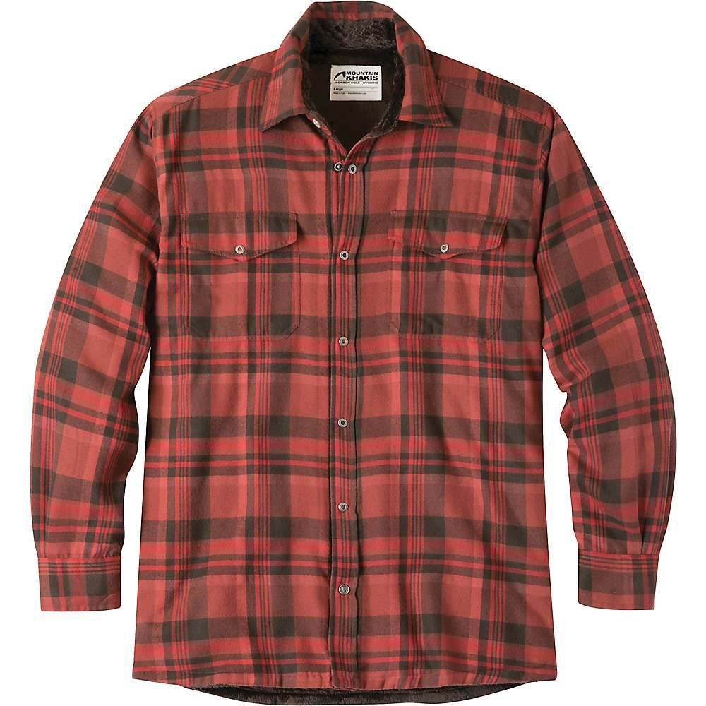 マウンテンカーキス Mountain Khakis メンズ フリース トップス【christopher fleece lined shirt】Engine Red Plaid