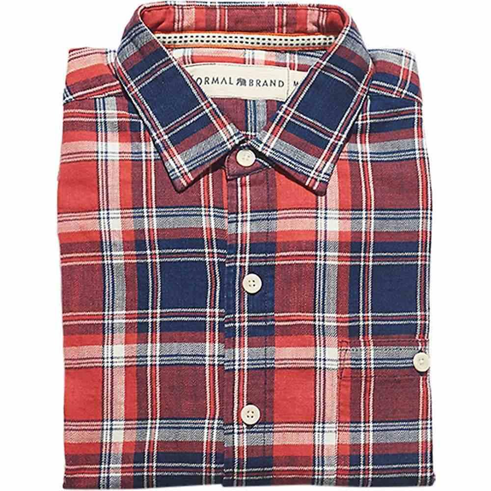 ノーマルブランド The Normal Brand メンズ シャツ トップス【leland indigo twill plaid shirt】Indigo