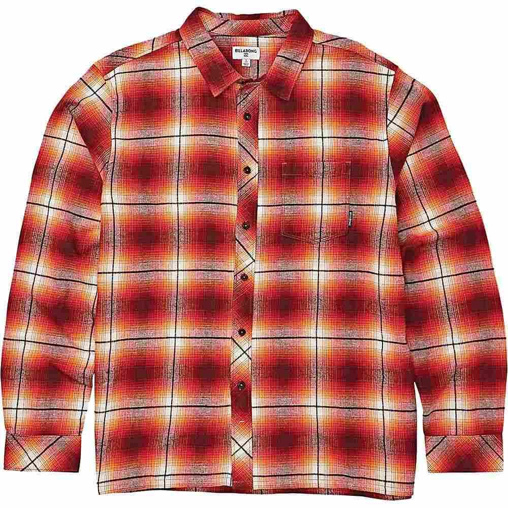 ビラボン Billabong メンズ シャツ トップス【coastline long sleeve shirt】Red