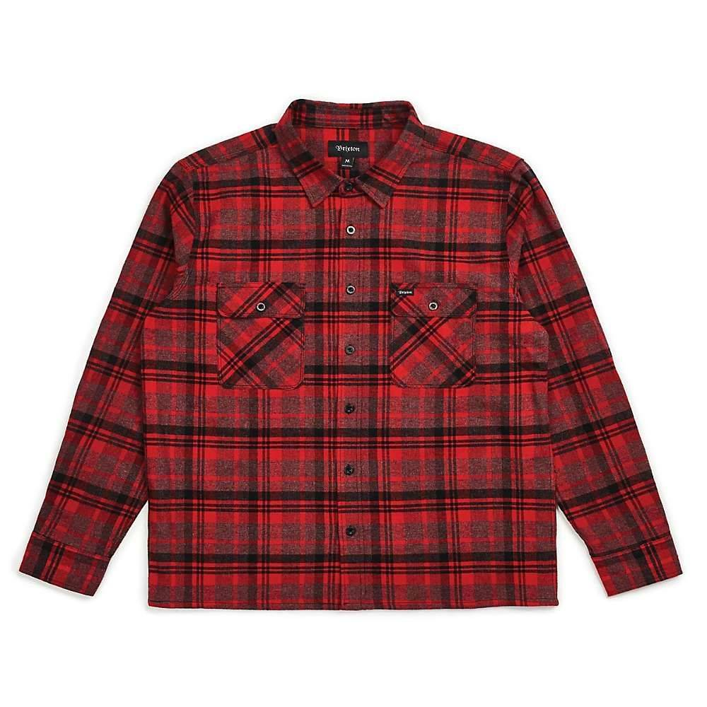ブリクストン Brixton メンズ シャツ トップス【archie long sleeve flannel】RED/BLACK COMBO