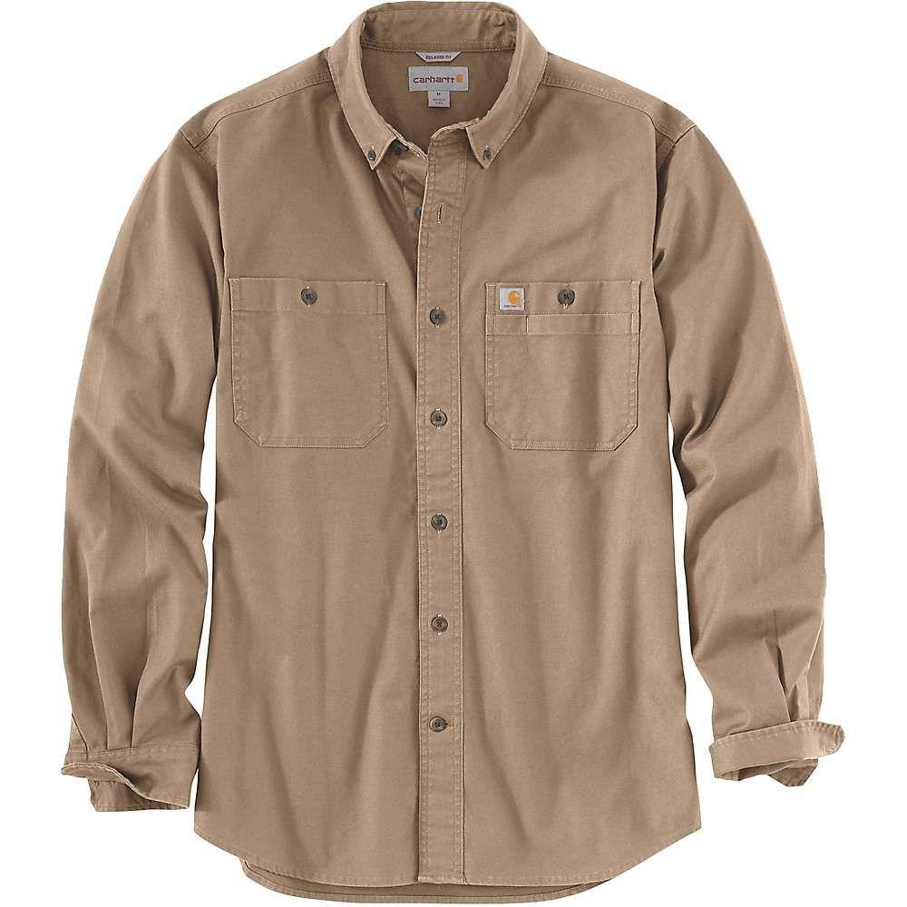 カーハート Carhartt メンズ シャツ トップス【rugged flex rigby ls work shirt】Dark Khaki