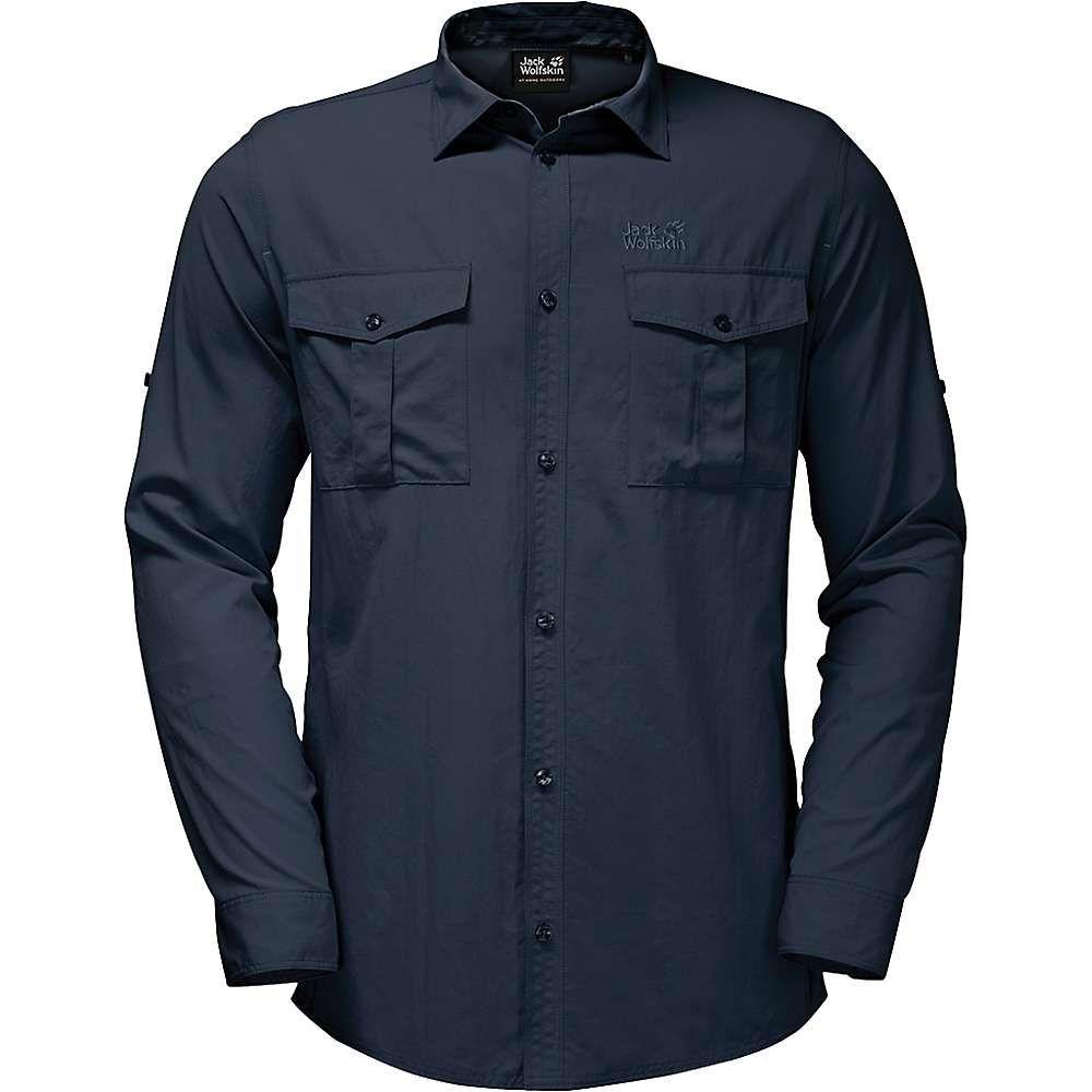 ジャックウルフスキン Jack Wolfskin メンズ シャツ トップス【atacama roll-up shirt】Night Blue