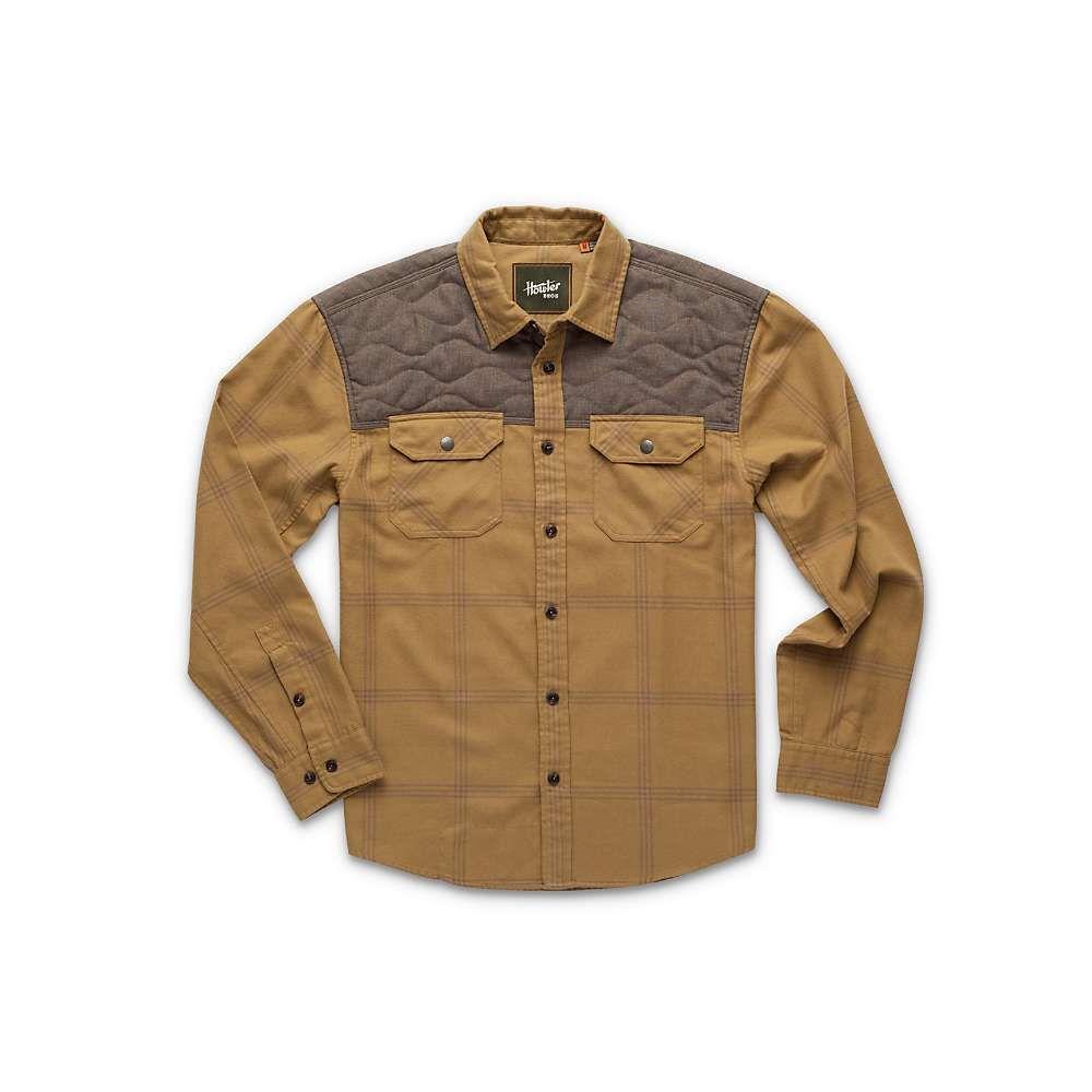 ホウラーブラザーズ Howler Brothers メンズ シャツ トップス【quintana quilted flannel】Officer Khaki