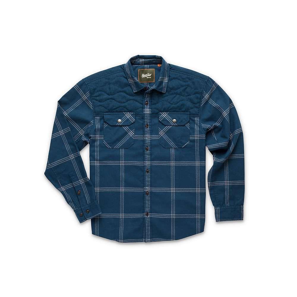 ホウラーブラザーズ Howler Brothers メンズ シャツ トップス【quintana quilted flannel】Middy Blue
