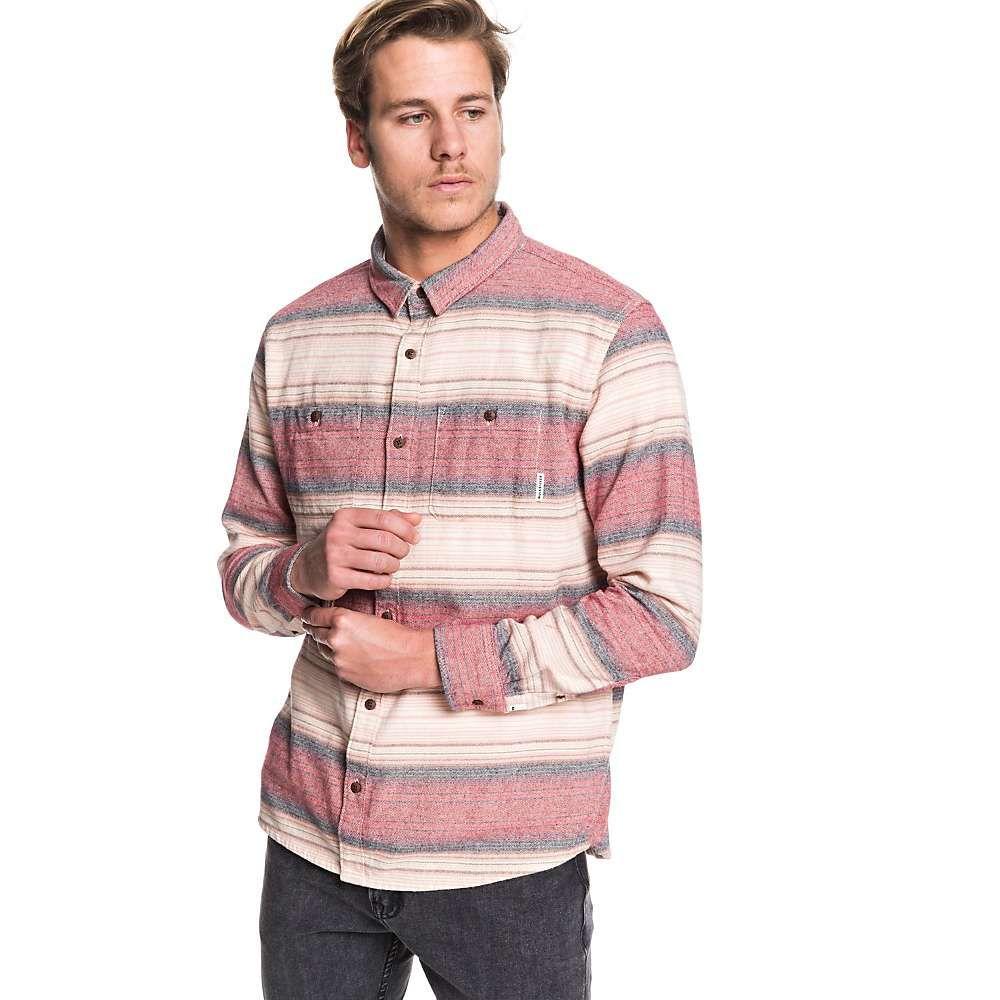 クイックシルバー Quiksilver メンズ シャツ トップス【inca gold stripe shirt】Garnet Inca Stripe