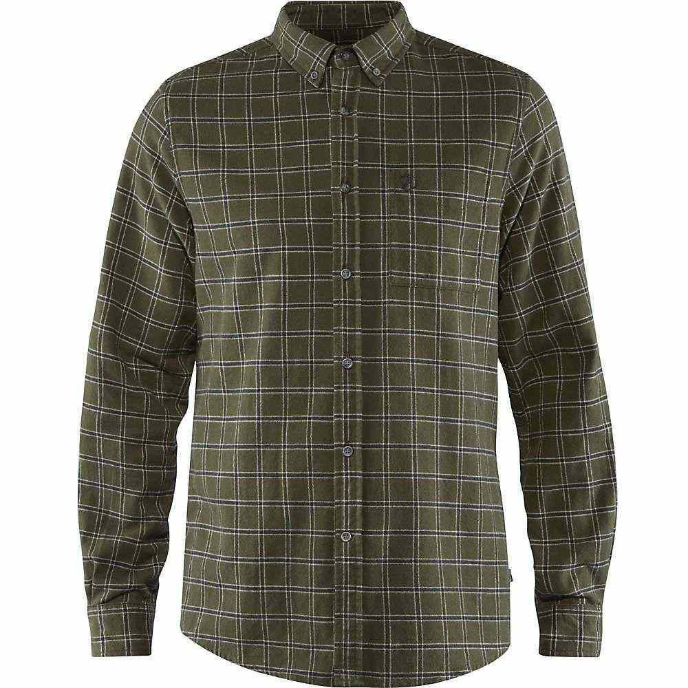 フェールラーベン Fjallraven メンズ シャツ フランネルシャツ トップス【ovik flannel shirt】Deep Forest