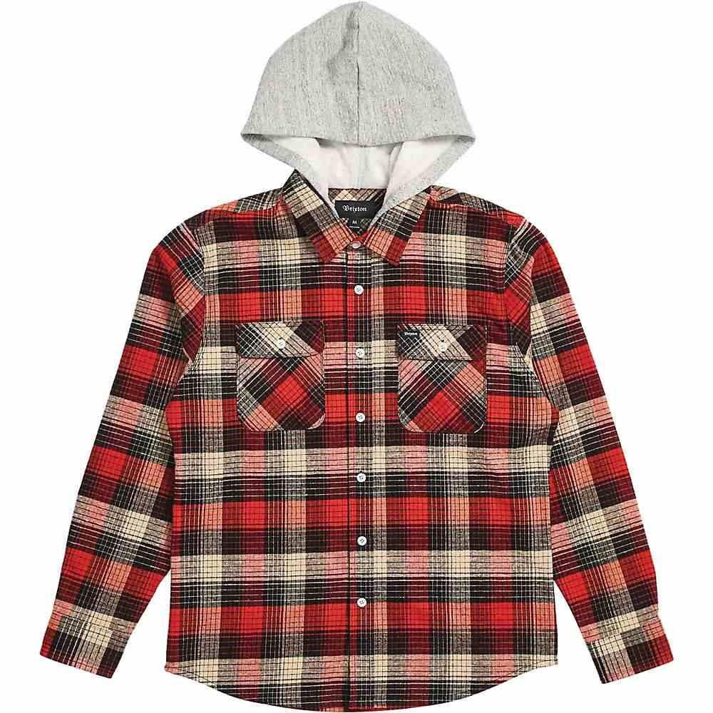 ブリクストン Brixton メンズ シャツ トップス【bowery hood ls flannel】Red/Black Combo