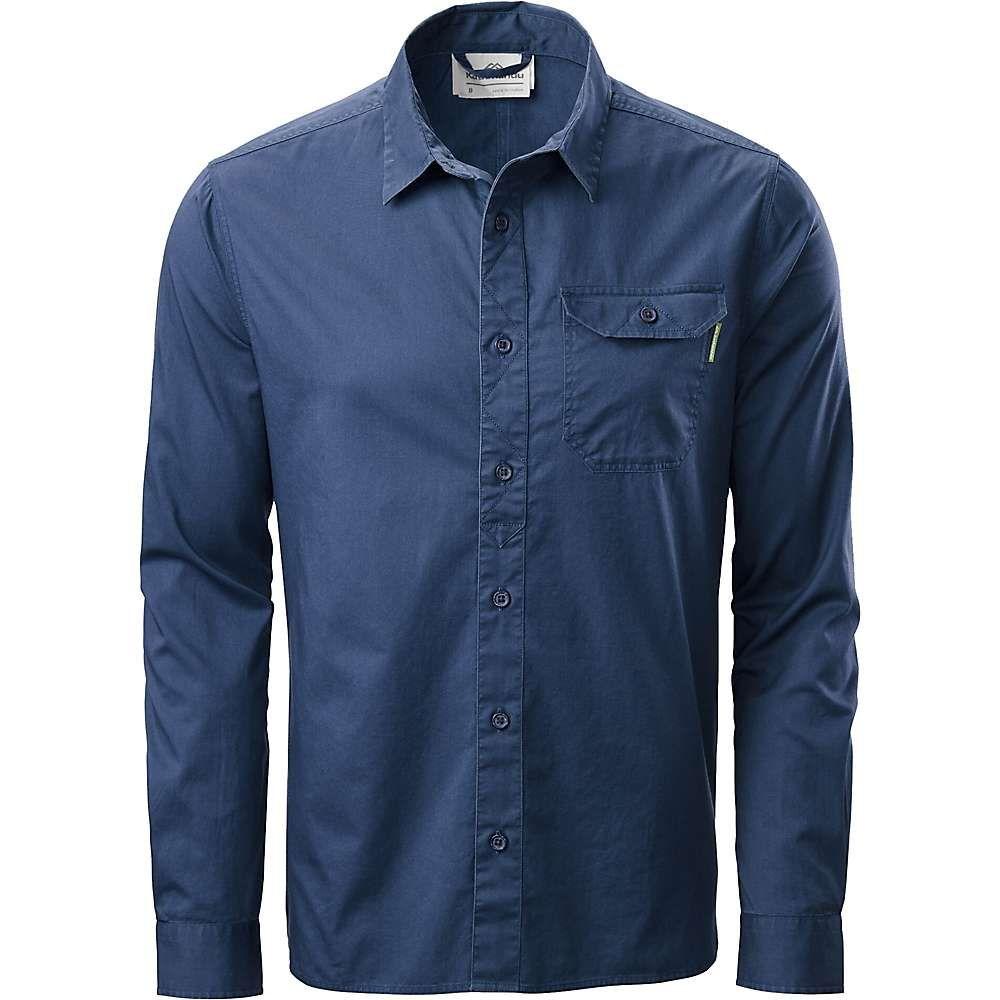 カトマンズ Kathmandu メンズ シャツ トップス【earthcolours l/s shirt】Earth Stone