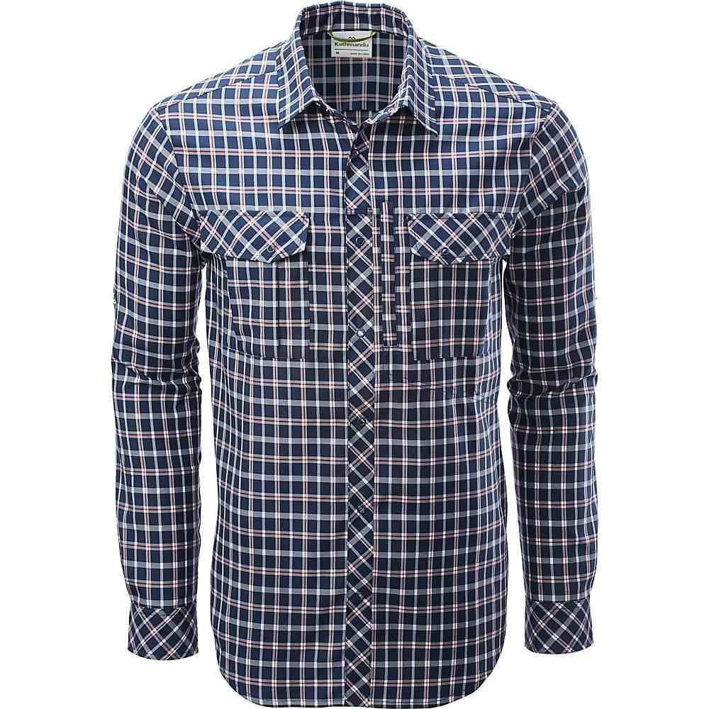 カトマンズ Kathmandu メンズ シャツ トップス【koruna l/s shirt】Blue Check