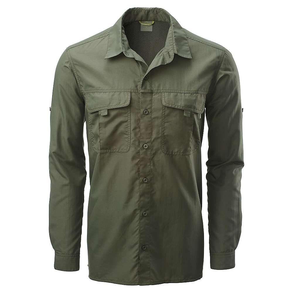 カトマンズ Kathmandu メンズ シャツ トップス【kangsar l/s shirt】Dark Olive