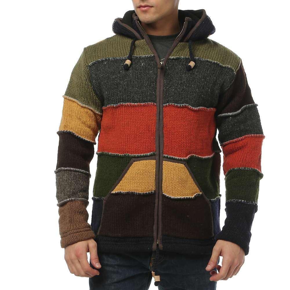 ランドロマット Laundromat メンズ フリース トップス【patchwork fleece lined sweater】Red