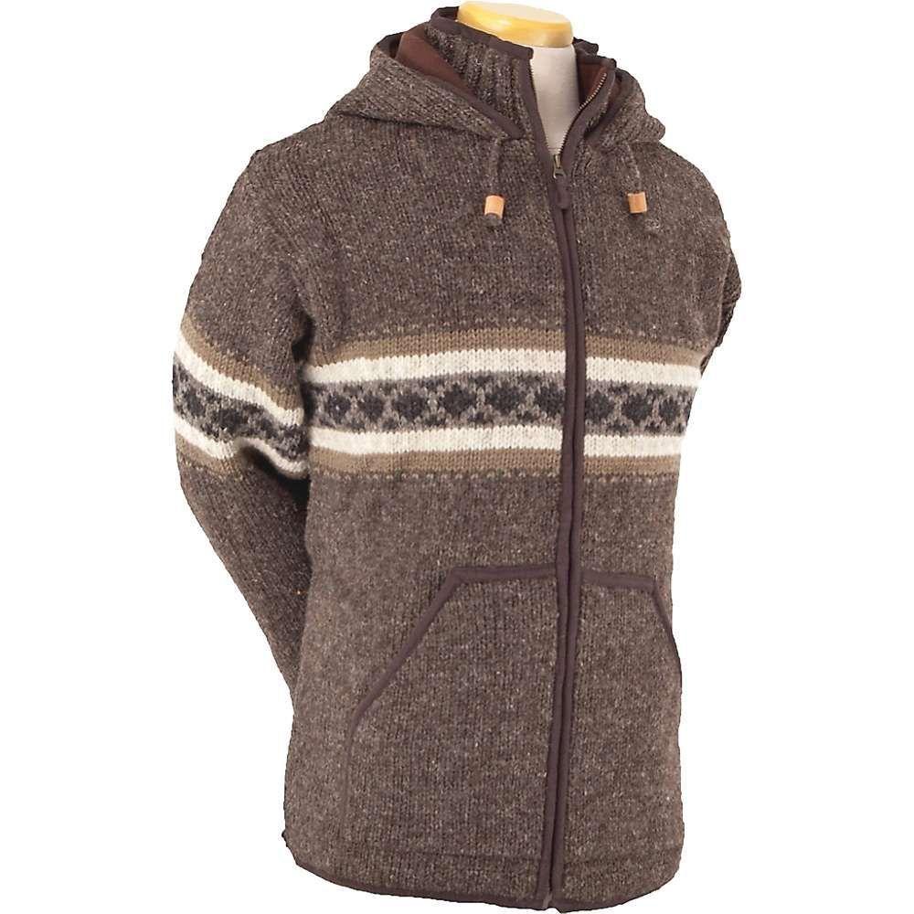ランドロマット Laundromat メンズ フリース トップス【wayne fleece lined sweater】Dark Natural