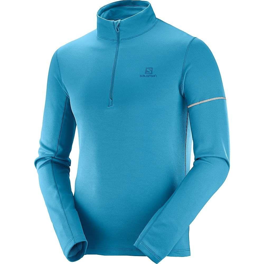 サロモン Salomon メンズ フィットネス・トレーニング トップス【agile half zip mid top】Fjord Blue/Lyons Blue