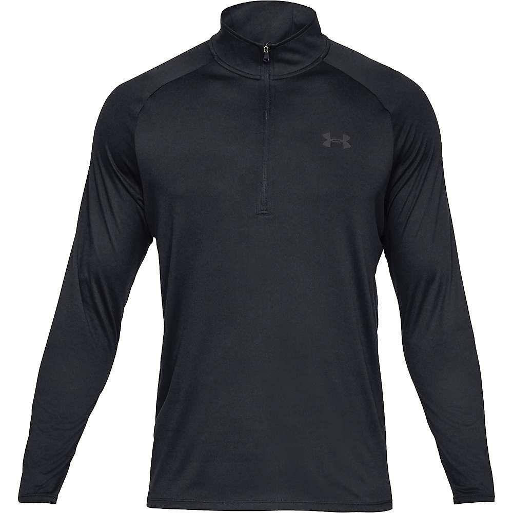 アンダーアーマー Under Armour メンズ フィットネス・トレーニング ハーフジップ トップス【ua tech 2.0 1/2 zip top】Black/Charcoal