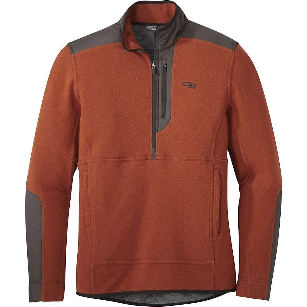 アウトドアリサーチ Outdoor Research メンズ フリース トップス【cyprus half zip jacket】Burnt Orange Heather