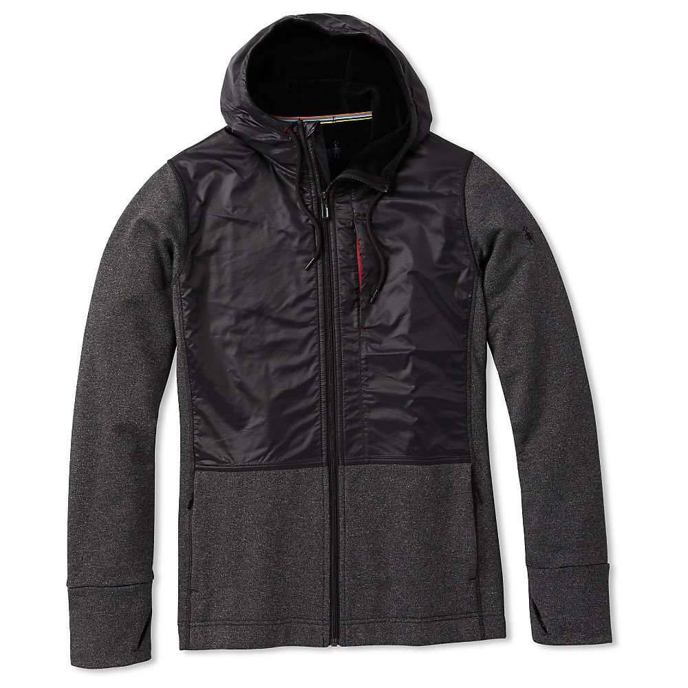 スマートウール Smartwool メンズ フリース トップス【merino sport fleece full zip hybrid hoodie】Charcoal Heather