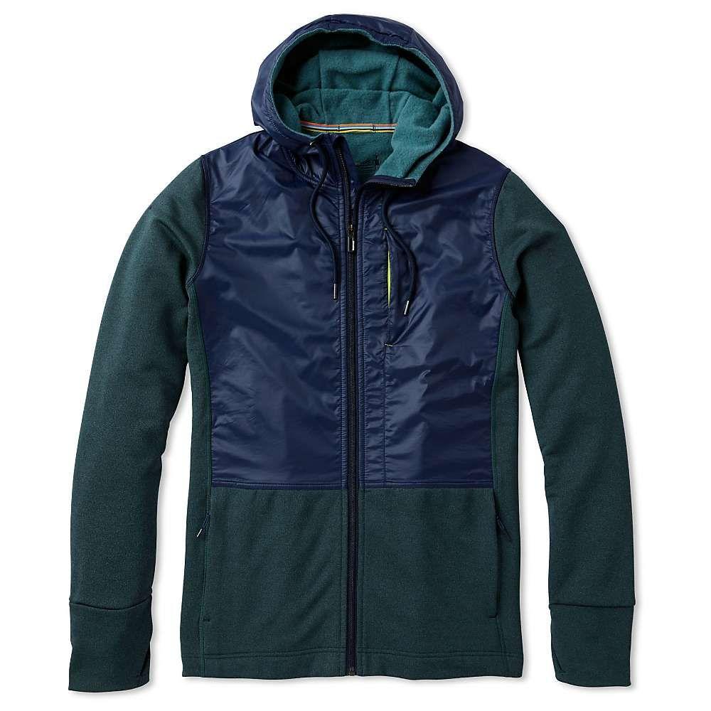 スマートウール Smartwool メンズ フリース トップス【merino sport fleece full zip hybrid hoodie】Pine Gray Heather