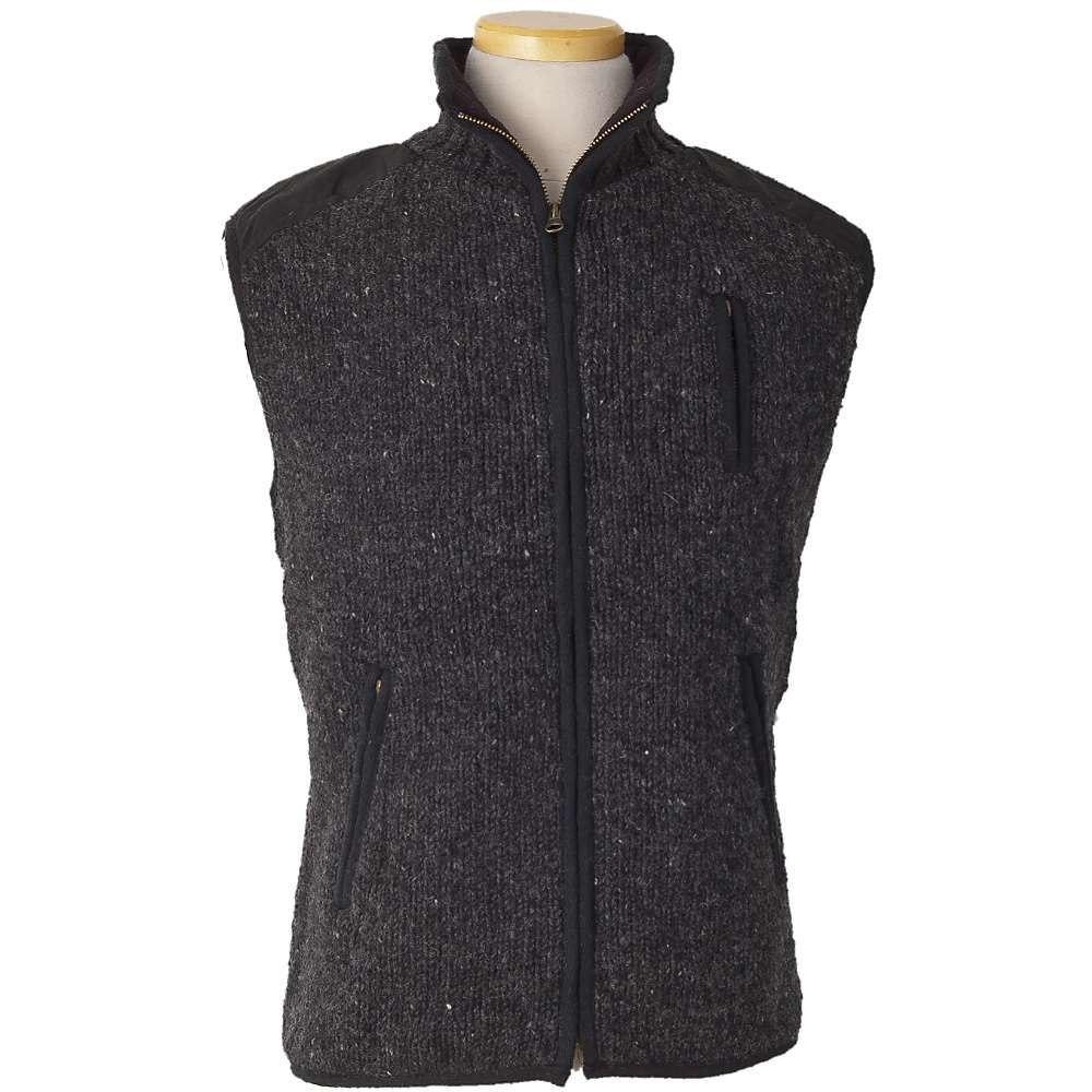 ランドロマット Laundromat メンズ ベスト・ジレ トップス【yale fleece lined vest】Black Natural