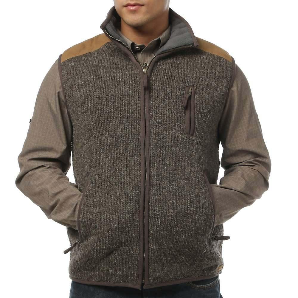 ランドロマット Laundromat メンズ ベスト・ジレ トップス【yale fleece lined vest】Dark Natural