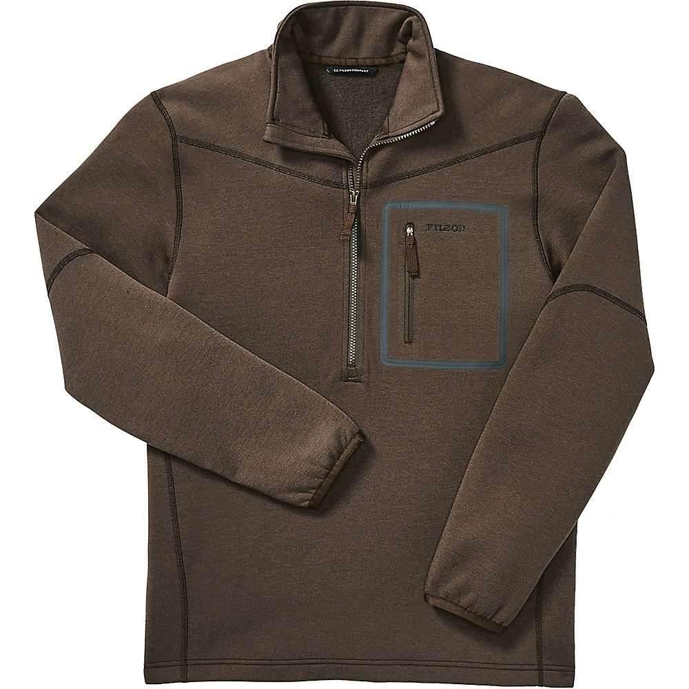 フィルソン Filson メンズ フリース ハーフジップ トップス【shuksan 1/2 zip fleece top】Brown